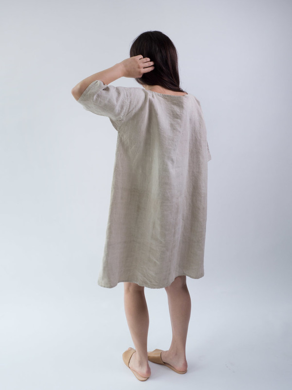 duo nyc,linen dress,vintage DUO NYC Vintage French Linen Dress