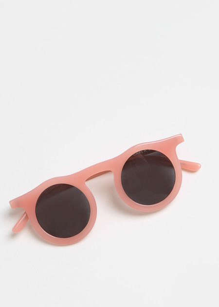 Carla Colour Lind Sunglasses in Flesh+Haze