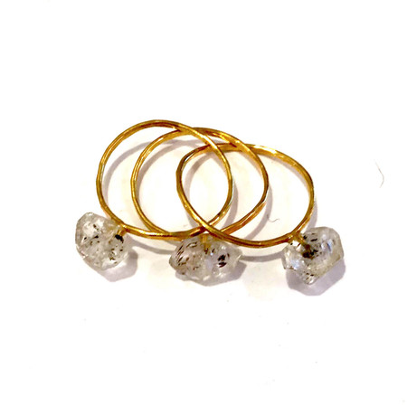 Jorge Morales Three Piece Ring - Gold/Quartz