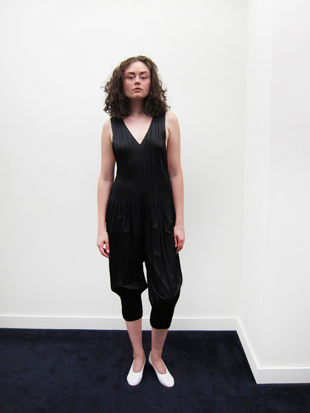 Issey Miyake Fluffy Pleat Jumpsuit, Black
