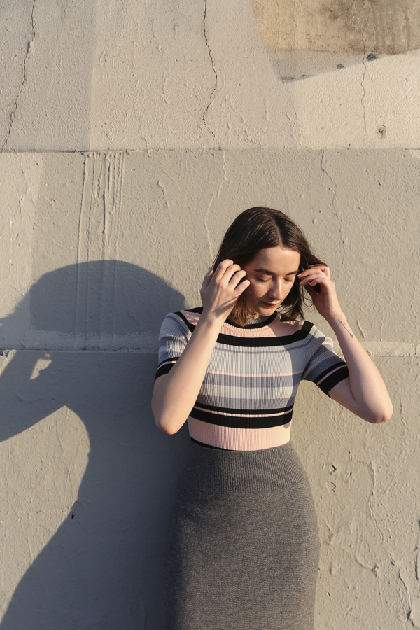 PRE-ORDER - Objects Without Meaning Rib Tee, Dark Stripes