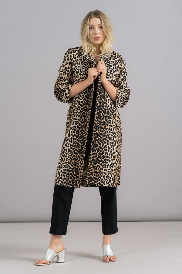 Ganni Yoshe Leopard Coat