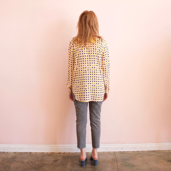 Dusen Dusen collared buttondown - peach double dot