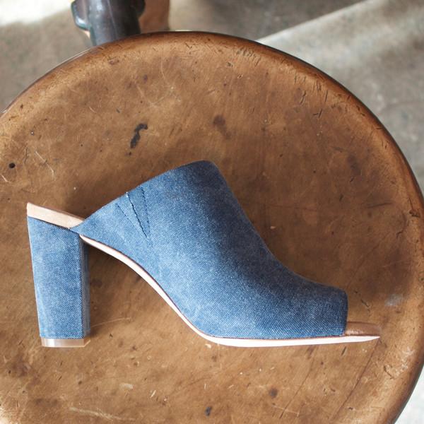 Charlotte Stone Morley slide - indigo