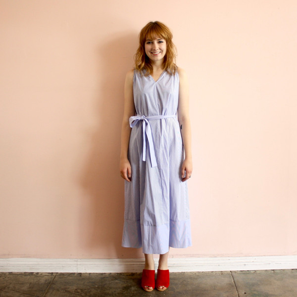 Svilu stripe tank dress