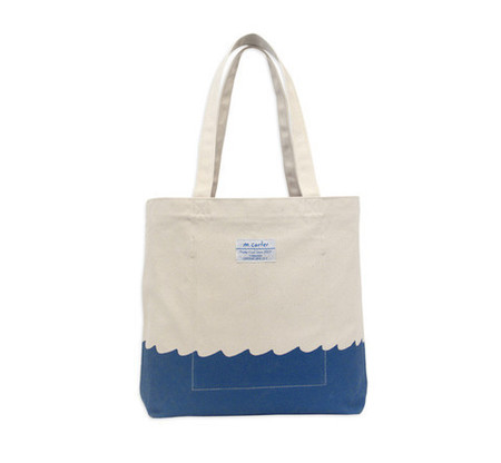 M. CARTER CO. WAVE BOTTOM TOTE