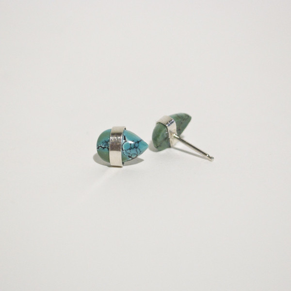 BLTN - Turquoise Cabochon Studs