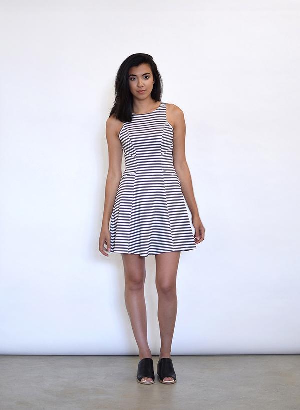 Fifteen Twenty Stripe Flare Dress