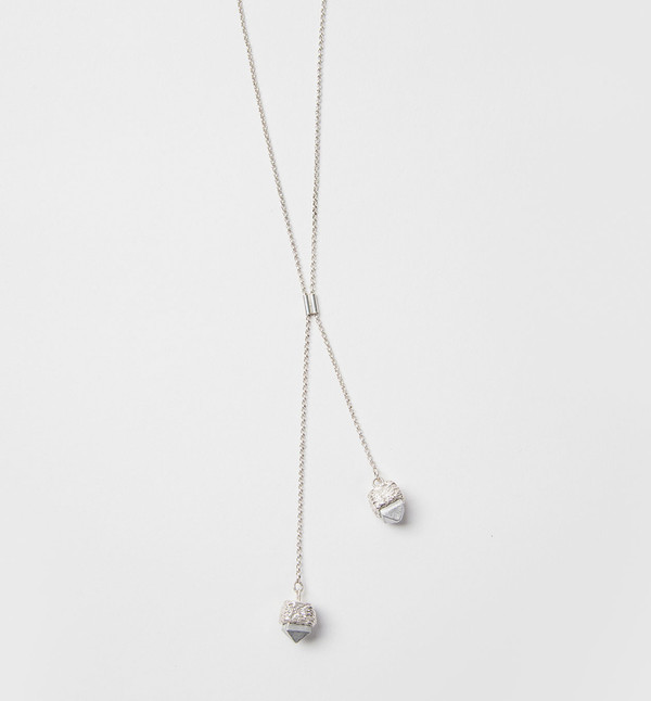 Article 22 Ashes Stud Lariat Necklace