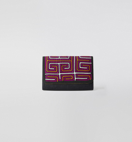 Mola Sasa Mola Denim Clutch Purple