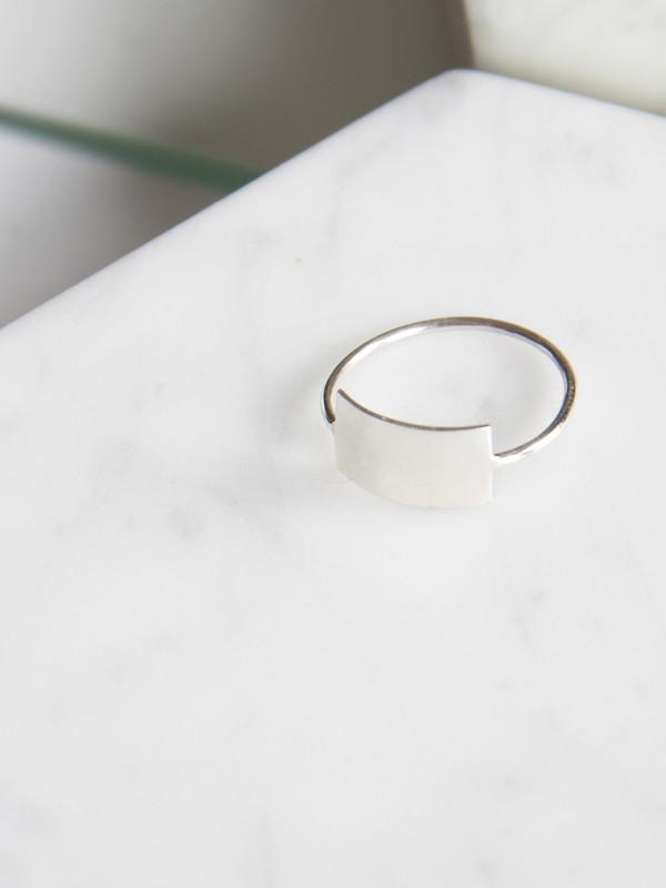 Kristen Elspeth Shield Ring Silver