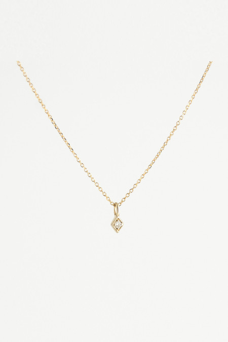 Emi Grannis Golden Kite Necklace - White Diamond