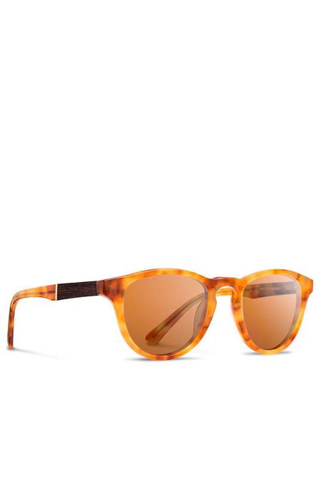 Shwood Francis Amber Ebony Sunglasses