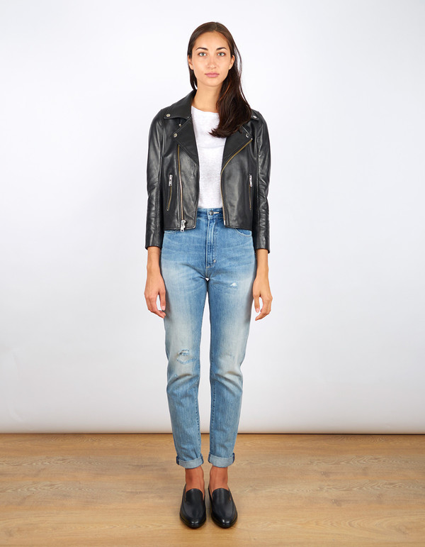 Ganni Passion Biker Jacket Black
