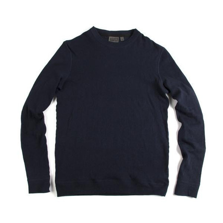 Naked & Famous NAVY SLIMCREW VINTAGE DOUBLE FACE