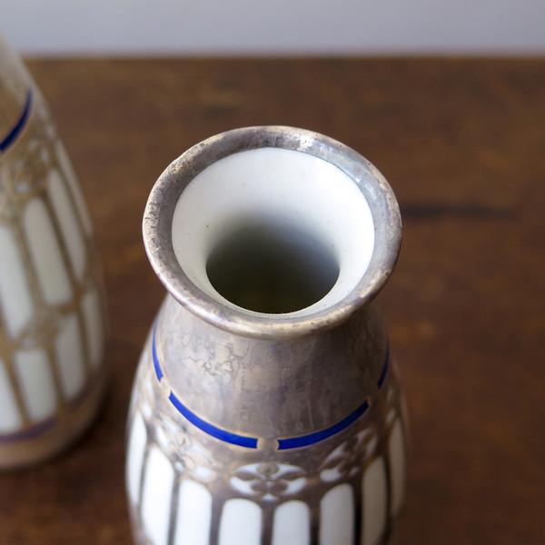 Erica Tanov silver overlay vases