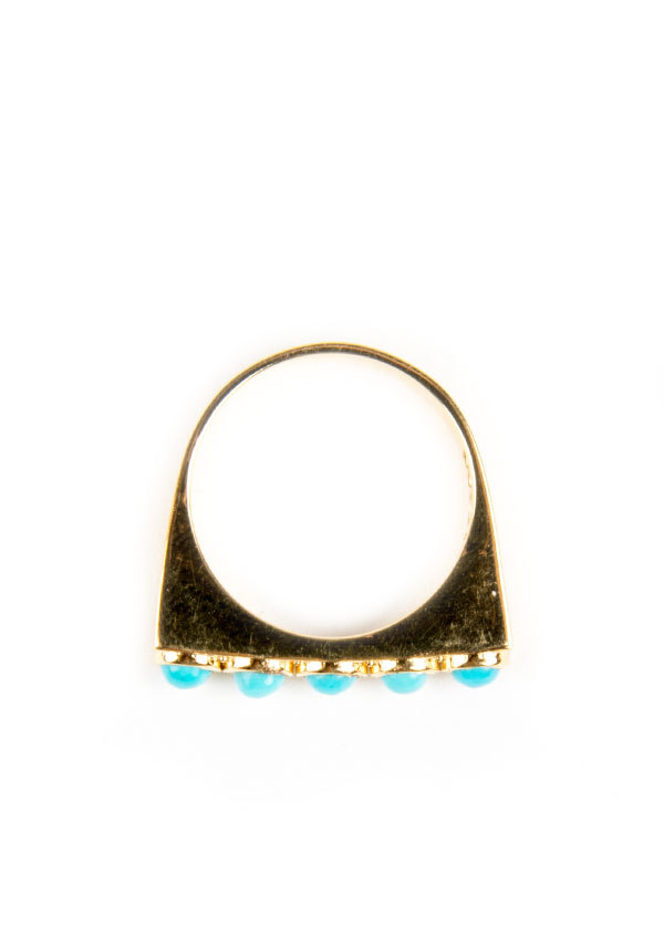 TomTom Jewelry - Turquoise Stack Ring in Gold