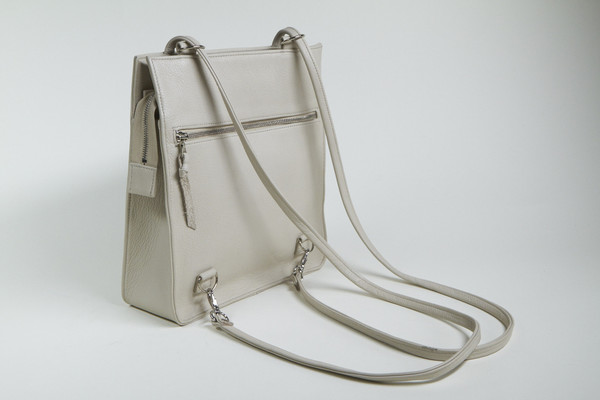 Clyde Best Bag in Stone Leather