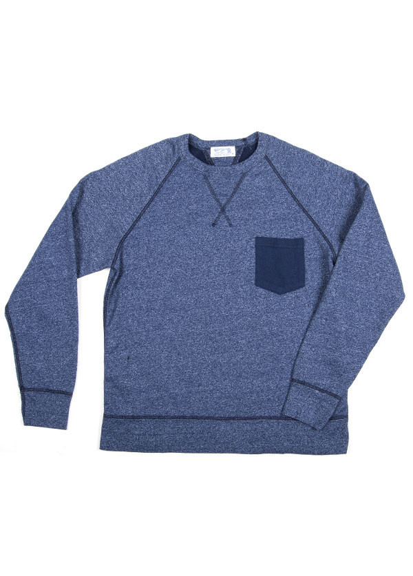 Velva Sheen - Men's Two Tone Raglan Sweatshirt in Blue