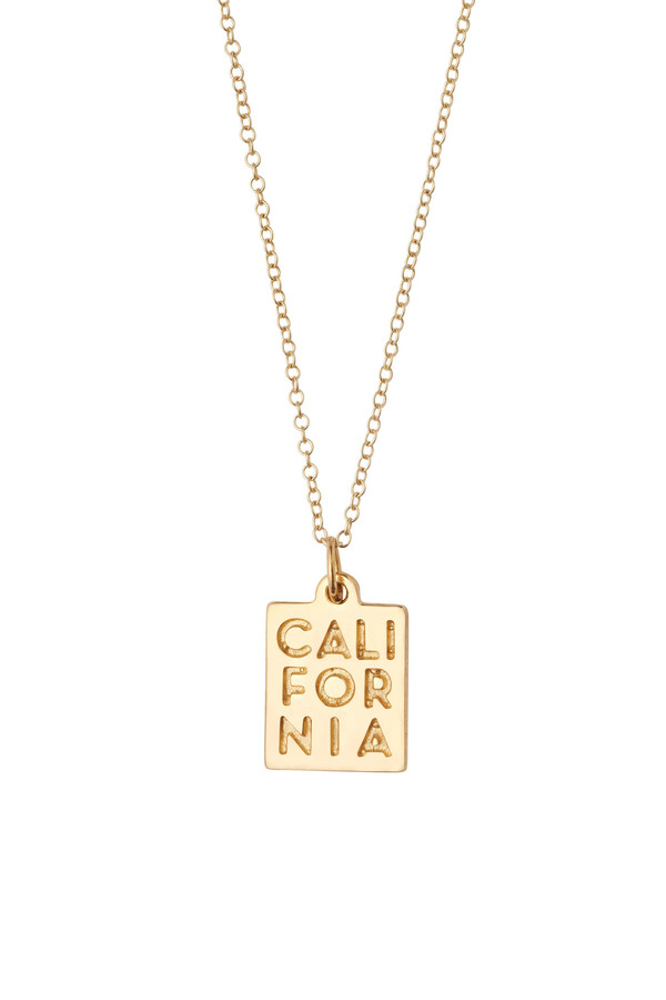 "Honey & Bloom ""CALIFORNIA"" Pendant Necklace 14k Yellow Gold"