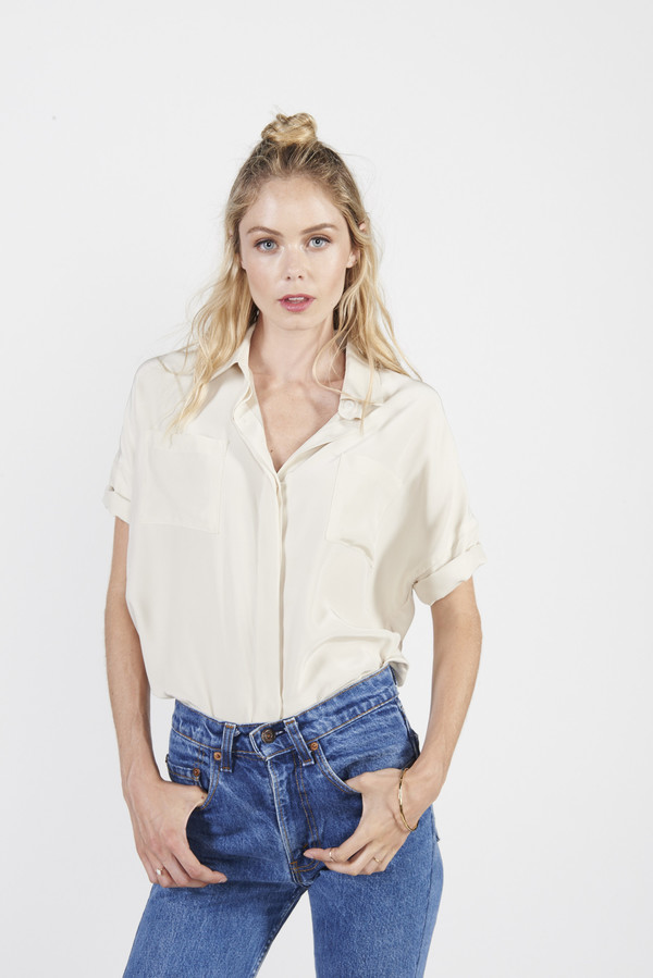 August Button Down - Ivory