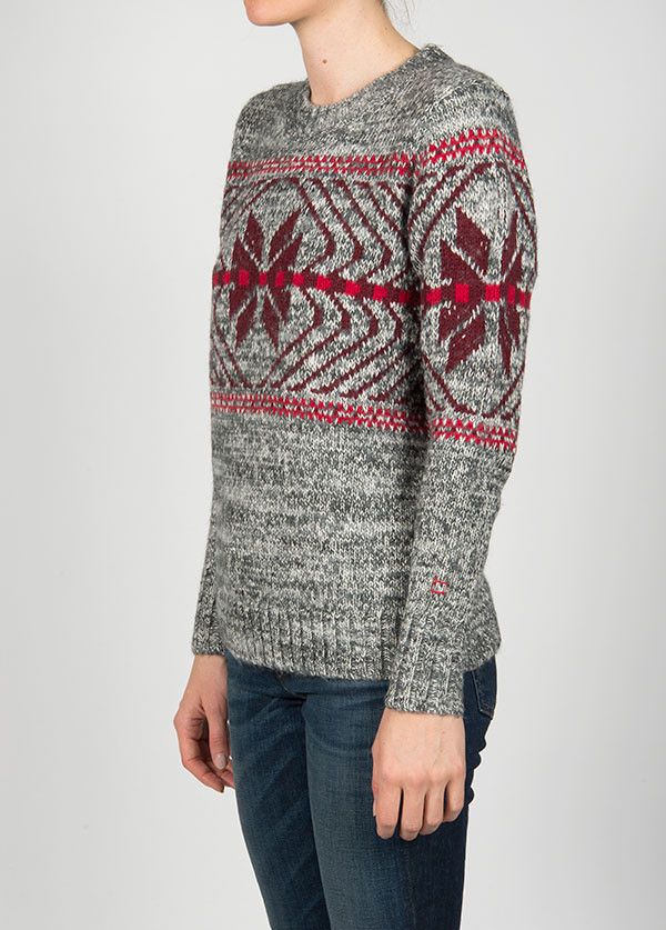Woolrich - Native Crew Sweater in Grey Marl