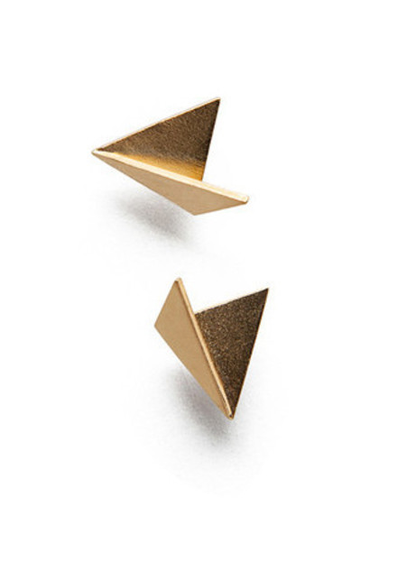 MAU JEWELRY Simple Fold Stud