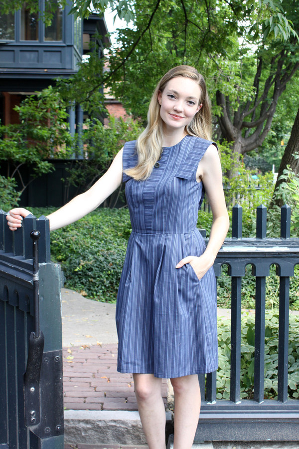 Birds of North America Piping Guan Dress (Blue) POP-UP SALE