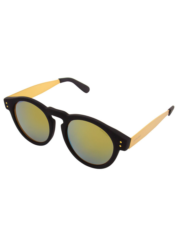 Komono Clement Sunglasses Black Gold Metal
