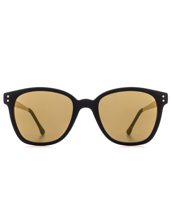 Komono Renee Sunglasses Black Gold Metal