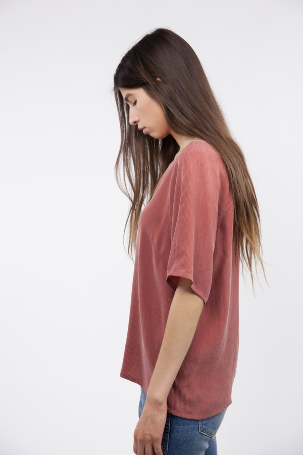 Just Female Orion Blouse - Marsala Red