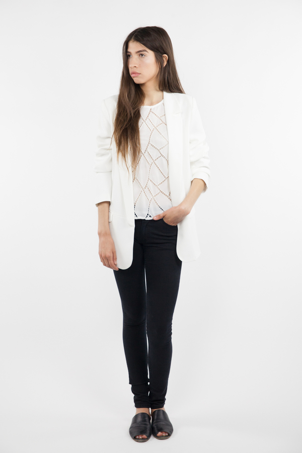 Just fFemale Everest Blazer - White