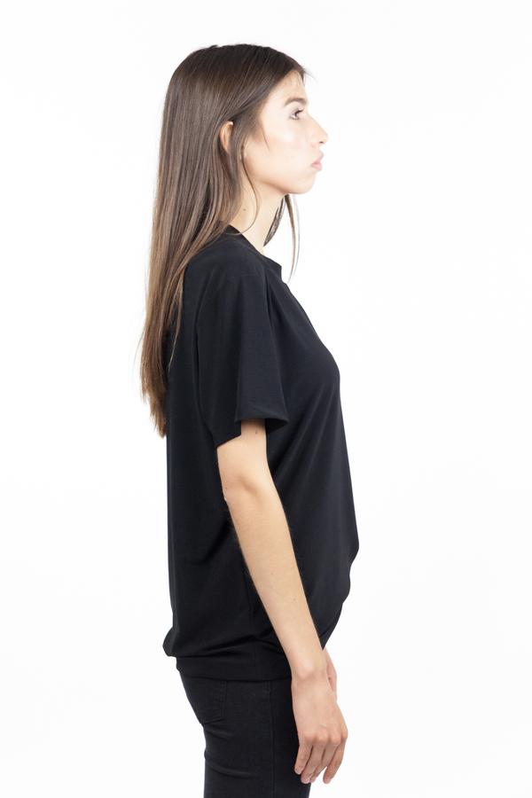 Norma Kamali Go Short Sleeve Boxy Tee - Black