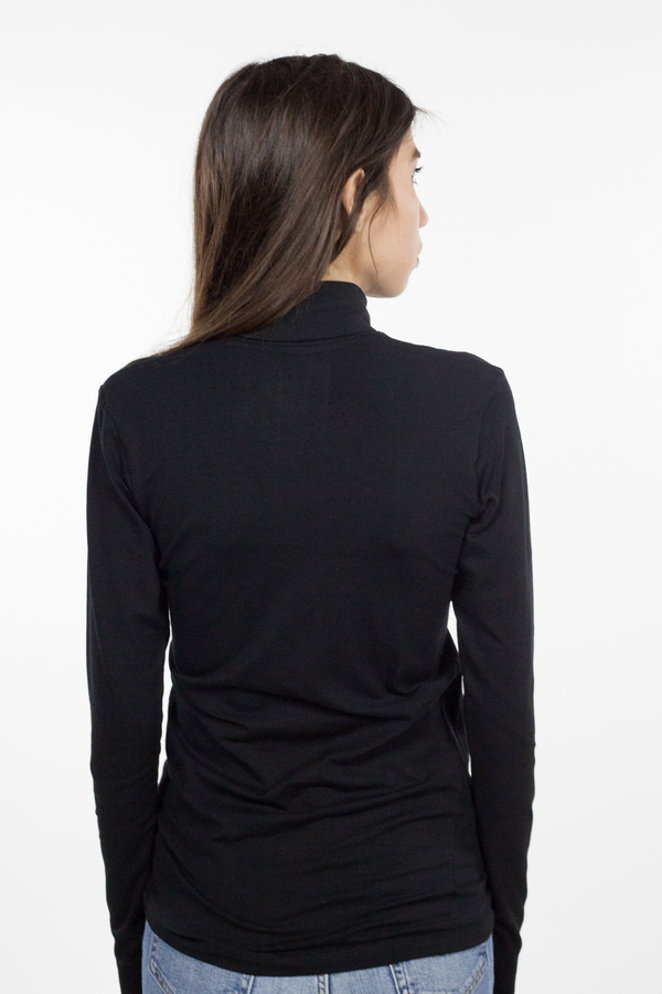 Kowtow Building Block Turtleneck Top - Black