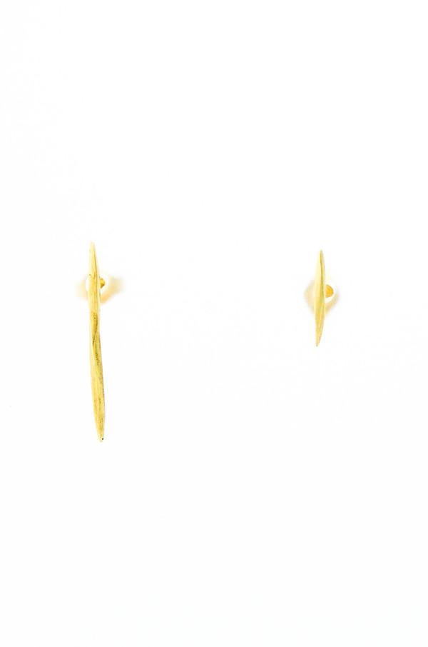 K/ller 10k Yellow Gold Asymmetrical Twist Spike Studs