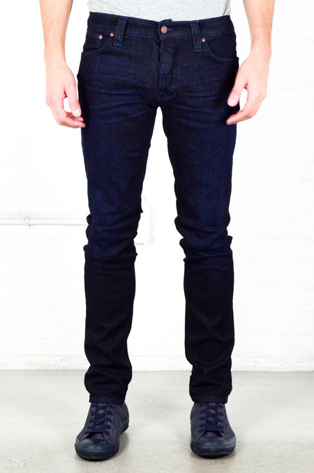 Men's Nudie Grim Tim Navy Thunder