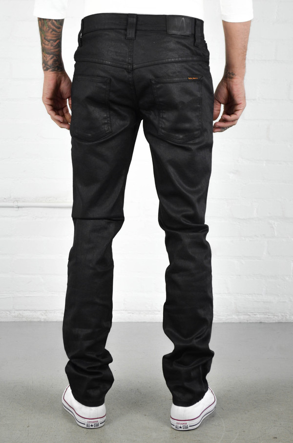Men's Nudie Thin Finn Back 2 Black
