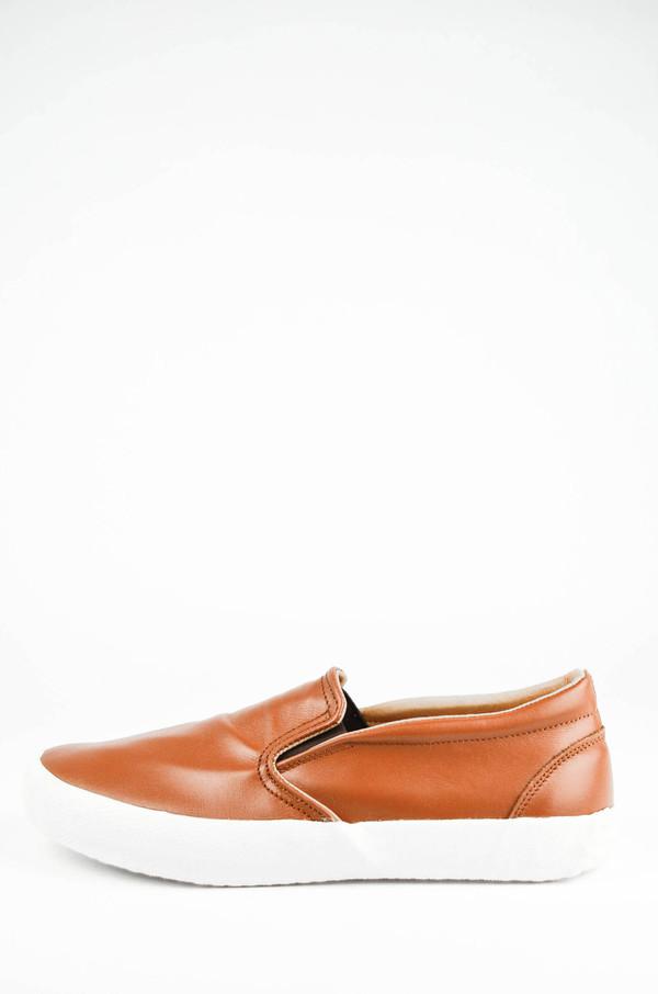 YMC Rust Leather Slip on Trainer