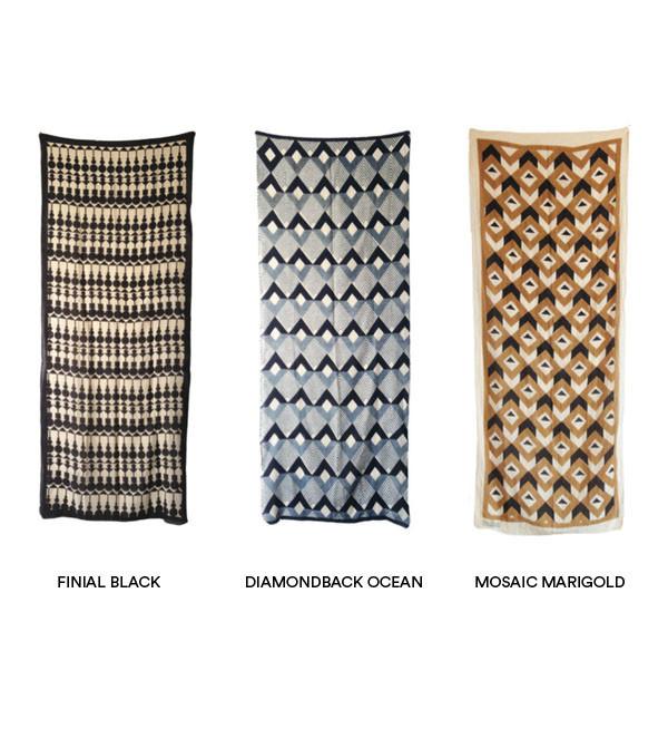 Block Shop Textiles Block Shop Black Finial Scarf