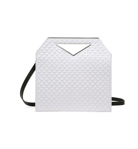 IMAGO-A No.30 Light Grey + Black Triad Chequered Bag