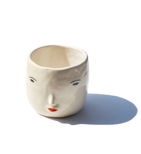Rami Kim Girl Face Pot White