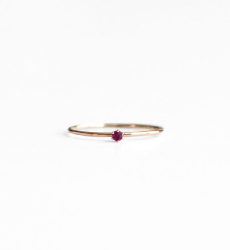 Satomi Kawakita Baby Ruby Ring