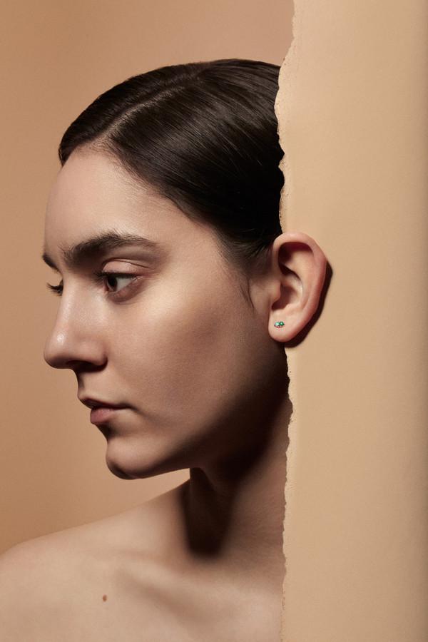 WWAKE Two-Step Opal Earrings
