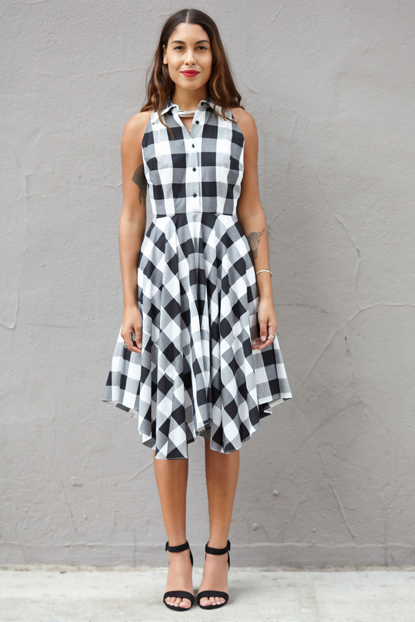 Julia Jordan Plaid Button Down Dress