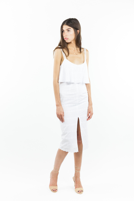 Bec & Bridge Cassidy Midi Dress - White
