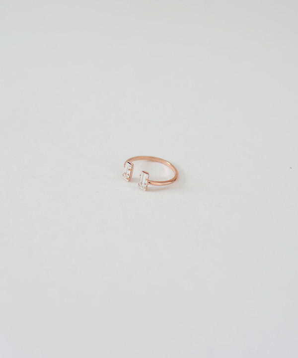 Bing Bang Double Baguette Ring