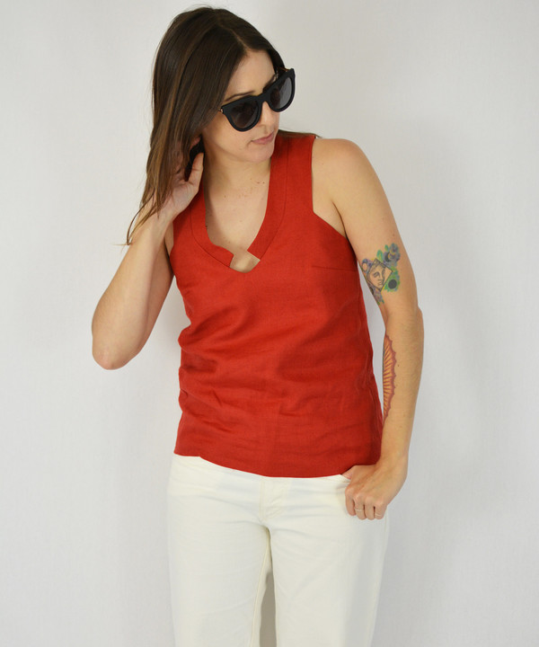 Carleen Diamond Neck Tank