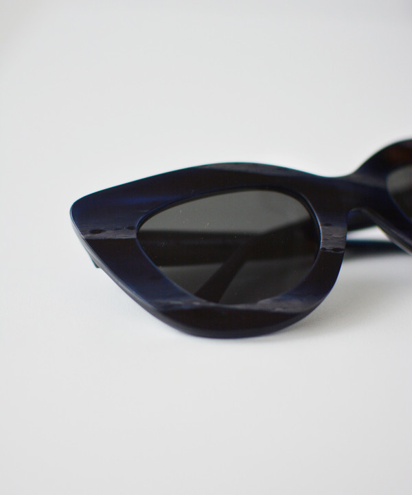 Dusen Dusen Blue Horn Triangle Sunglasses
