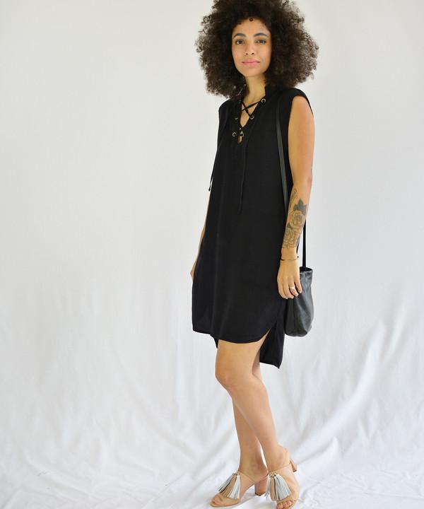 Lacausa Lace Up Dress