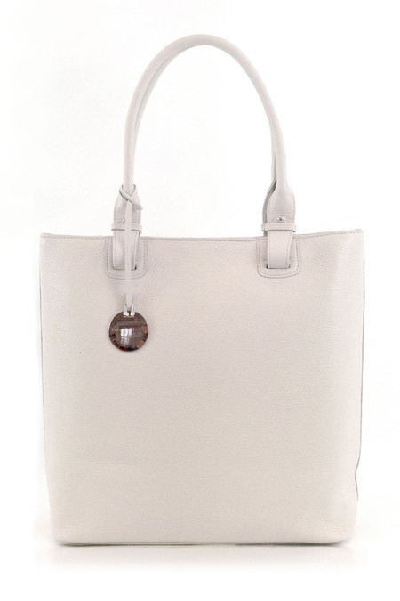 Ella Valentine - Lulu Leather Shopper Cream